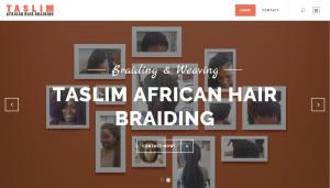 Taslim African Hair Braiding Homepage Design Screenshot
